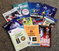 Cricket collection Twelve vintage programmes dating 1985 to 2013 includes various internationals