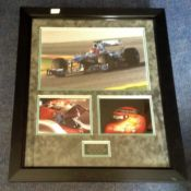 Motor Racing Michael Schumacher 29x25 mounted and framed signature piece includes signed replica
