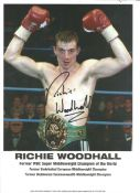 Richie Woodhall Boxing genuine autograph signed 8x12 colour photo. All autographs come with a