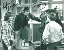 Please Sir actors Peter Cleall Dave Barry signed 10 x 8 inch b/w photo. All autographs come with a