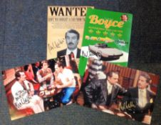 John Challis signed 12x8 photo collection. 4 in total. All have some damage mainly creases. All
