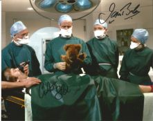 James Bolam and Christopher Strauli Only When I Laugh double Signed 10x8 colour photo, funny scene
