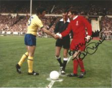 Tommy Smith Liverpool Football legend signed 10 x 8 inch colour photo. All autographs come with a