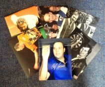 Snooker and Darts collection 6 signed photos from some legendary names such as Peter Ebdon, Wayne