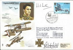 Air Cdre H. F. W. Battle signed RAFM HA2 cover commemorating Captain Albert Ball. The Fairey