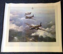 Dambuster Bill Townsend World War Two Print 24x20 titled Wellington by the artist Robert Taylor