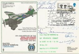 Rare multiple signed WW2 RAF Escaping Society cover signed by seven WW2 escapers & Resistance