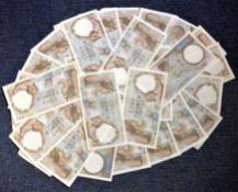 100 cent franc note collection from 1940. 29 in total. Retail value for each note can be as high