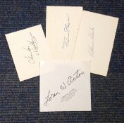 Space signed signature piece collection. 4 included. Includes Shaw, Roberts Acton and Walker. All