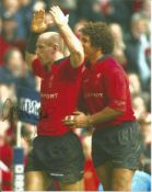 Gareth Thomas signed 10x8 colour photo in Welsh strip. All autographs come with a Certificate of