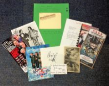 Assorted TV/Film collection. 10 items. Assorted flyers, signature pieces and photos. Amongst the