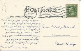 1910 G White taking Mr MacDonald for a flight vintage postcard, Historical interest in senders