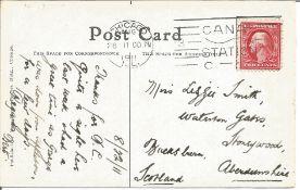 1911 Chicago Aviation Meet postcard with William Badger fatal crash illustration. Held at Grant Park