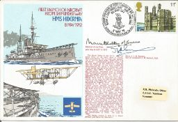 WW2 Mountbatten of Burma and Mjr J Sampson signed 1978 official Navy cover RNSC(2)12 comm. HMS