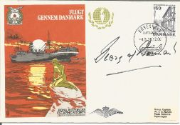 Prince Georg of Denmark signed RAF Escaping Society Escape from Denmark cover, very rare number 12