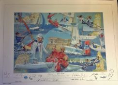 Sailing For Gold signed 2004 Sailors Of The Olympic And Paralympic Teams Limited Edition