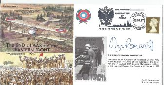 Princess Olga Romanoff signed 1997 Great War cover The End of the War on Eastern Front.