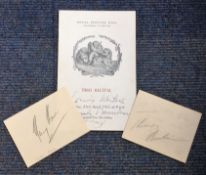 Music Collection two cards signed by Sir Thomas Beecham and Henry Hall plus 1963 music programme