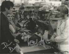 Quadrophenia Phil Daniels and Leslie Ash double signed 10 x 9 inch b/w photo from the movie.
