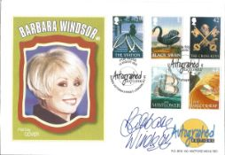 Barbara Windsor signed 2003 Autographed Editions official Pub Signs FDC. Condition 8/10.