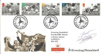 Football Just Fontaine signed 1996 Evening Standard official Football FDC. Condition 8/10.