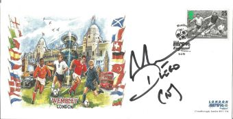 Diego Maradona signed 1996 Euro Champs football cover. Condition 8/10.