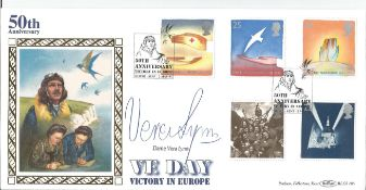 Dame Vera Lynn signed 1995 Peace and Freedom Benham official FDC BLCS105. Condition 8/10.