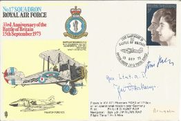 Great War German aces Theo Osterkamp and Hans Hahn signed No17 Squadron RAF 33rd Anniversary of