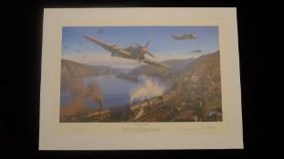 Nicolas Trudgian Typhoons over the Rhine signed by 3 pilots who flew the Typhoon ground attack