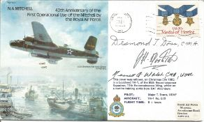 Gen J. H. Doolittle Kenneth A. Walsh, Desmond T. Doss signed 40th Anniversary of the First
