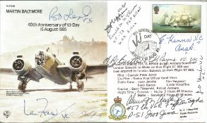 Rare multiple signed Victoria Cross winners signed cover. Six VCs in Charles Upham VC and Bar,