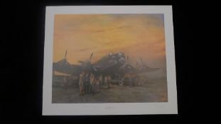 Terence Cuneo The Last Halifax Limited Edition signed by Marshall of the RAF Sir Arthur T. '
