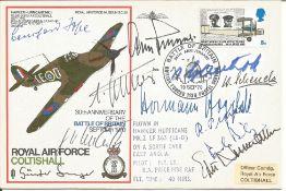 WW2 Luftwaffe aces multiple signed cover Paul Richey, Adolf Galland, Johannes Steinhoff, Wolfgang