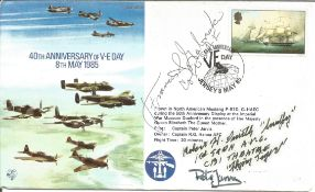 WW2 US Fighter aces multiple signed cover. Col Francis S. Gabreski USAF, Pete Jarvis and Robert H.