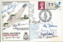 WW2 Luftwaffe aces multiple signed cover. Ten inc Neumann, Gunter Seeger, Hajo Hermann, Erich