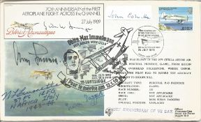 John Colville Churchills PPS signed label on cover with Luftwaffe and US fighter aces. Gunther
