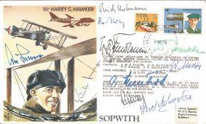 WW2 Luftwaffe aces multiple signed cover. Nine inc Erich Hartmann, Adolf Galland, Gunther Seeger,