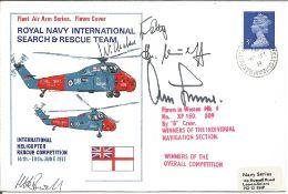 WW2 Luftwaffe aces multiple signed cover. Wilhelm Batz, Herman Neuhoff, Adolf Galland signed Royal