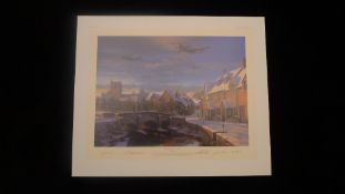 Nicolas Trudgian Warm Winters Welcome signed by 4 USAAF P-51 Mustang pilots who flew with the