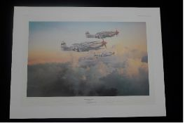 RARE Robert Taylor Fourth Fighter Patrol Presentation Copy signed by 4 famous WW2 P-51 Mustang