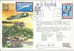 Hermann Hogeback and Douglas Bader signed RAFES cover No. 18 of 20. Reflown from London to