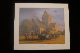Richard Taylor Liberation Sainte Mere-Eglise 7th June 1944 signed by 3 WW2 American Paratroopers who