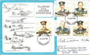 Dambuster WW2 Flt Ltnt Bill Townsend CGM DFM and Gp Cpt Ken Batchelor CBE DFC BCA signed The Award