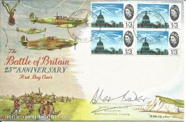 Douglas Bader signed The Battle of Britain 25th Anniversary FDC with Biggin Hill Westerham Kent 13