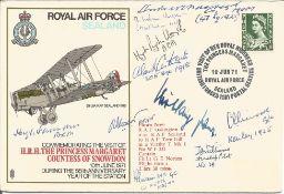 Great War fighter aces multiple signed cover. Ten inc MRAF Slessor, AVM Vincent, J A Williams, Grp