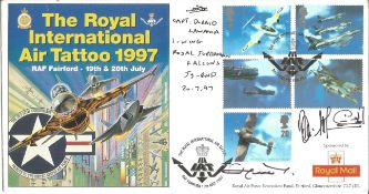 King Hussein of Jordan, Her Majesty Queen Noor, Captain Doraid Lawama, signed The Royal