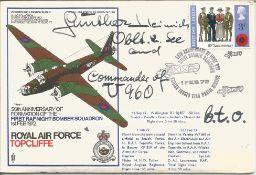 WW2 Uboat ace Gunther Heinrich Commander of U960 signed RAF Topcliffe 55th Anniversary of