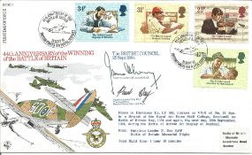 Sqdn Ldr James Lacey and Sqdn Ldr Day signed cover. All autographs come with a Certificate of