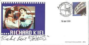 Richard Kiel signed FDC. All autographs come with a Certificate of Authenticity. We combine