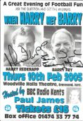 Harry Redknapp and Barry Fry signed flyer. All autographs come with a Certificate of Authenticity.